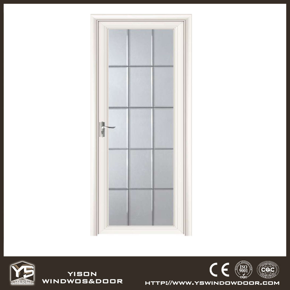 Highest level cheapest price pattern glass aluminum casement door for bathroom