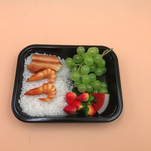 White Black Hot Meal Disposable Frozen Tray