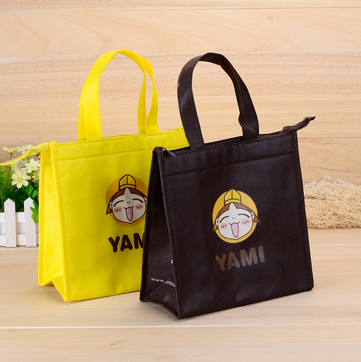 Factory low price tote non woven carry bag customized shopping bags with zipper