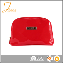 Fancy customized color logo red pvc zipper fashion coin purse felt cosmetic bag