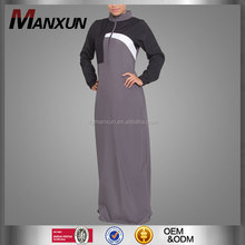Comfort breathable knitted baju muslim sports abaya long sleeve dubai fancy dress abaya for women
