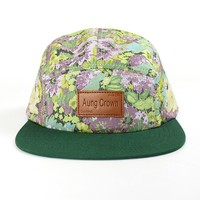 custom logo floral 5 panel hat