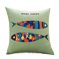 Home Textile animal wholesale decorative pillow covers cotton linen cushion cover