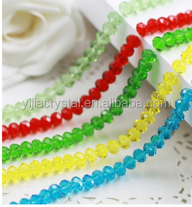 Imitation jade color Glass Rondelle Crystal Glass Beads