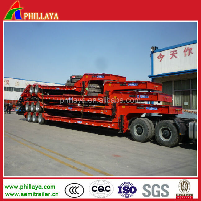 2014 NEW heavy duty tri-axle 50 tons transporter low bed trailer/ low tow truck trailer for sale
