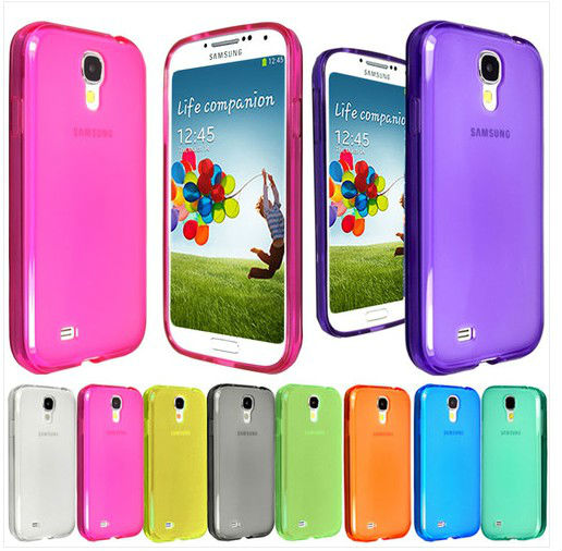 Laudtec New Silicnoe Transparent Matte TPU Gel Phone Case Cover for Samsung Galaxy S4 IV I9500