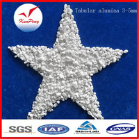 Tabular Alumina Aluminum oxide 99.3% Sintered White Tabular alumina for refractory materials