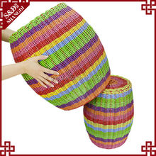 S&D colorful drum shaped plastic woven stools