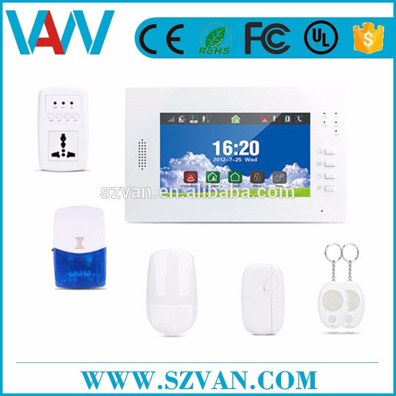 2017 hot sales sim card sms alarm with panic button for whole home use