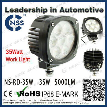 48W LED Work light Lifetime Warranty With IP68 CE ROHS E-MARK Certificate