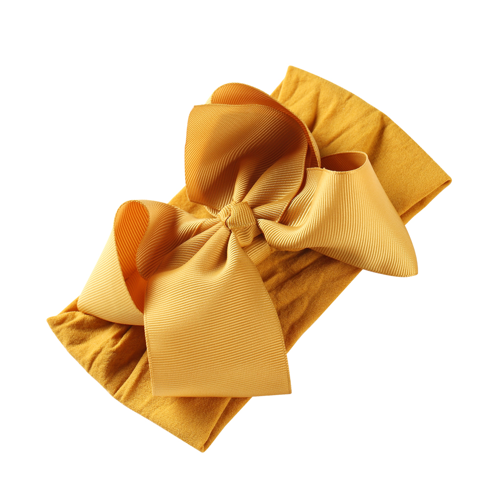 Wholesale Hair Accessories Dot Bow Twisted Knotted Hair Band Turban Head Wrap Baby <strong>Headband</strong> jojo bow nylon <strong>headband</strong>