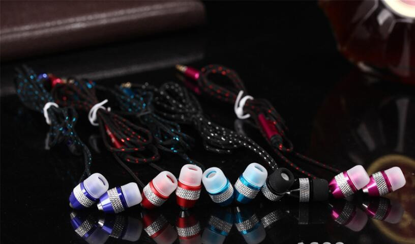 Factory 2016 Handsfree Earphone For Mobile, Wired Earphone With Mic, Super Bass Metal Earbuds