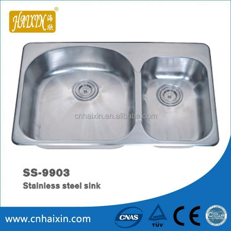Good Quality 2 Bowl Stainless Steel Sink With Drainer