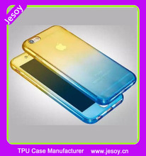 JESOY Colorful shockproof 360 degree Silicone Protective Clear Cover Case for iphone 5 6 6s
