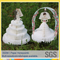 Paper Honeycomb centerpieces for Party and Wedding and engagement Decoration