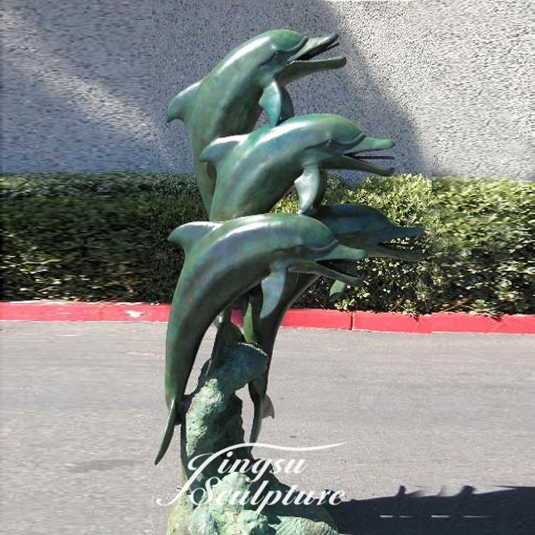Home Decoration bronze dolphin fountains for sale