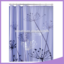 New Stylish printed water proof Polyester shower curtain
