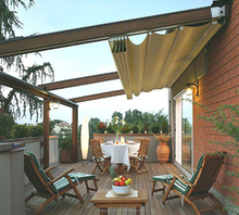 New design acrylic retractable patio roof