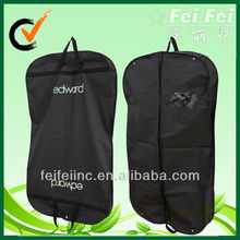 Black polyester material garment cover bag