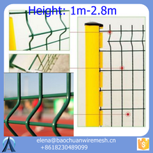 Pvc Coated 3d Wire Mesh Fence / 3d Fold Yard Guard Fence / welded wire mesh fencing