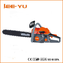 2 stroke 58cc Gasoline chain saw price portable wood cutting machine