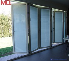 Built in blinds folding door