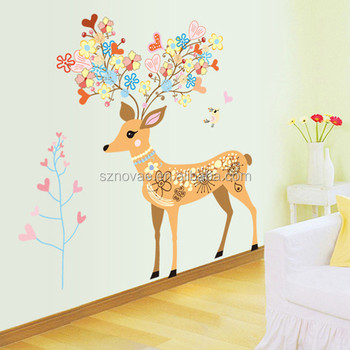 AY9171 Fantastic Deer Christmas Self-adhesive Wall Sticker