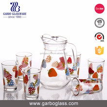 140CL glass water jug set milk kettle juice pot for homeware