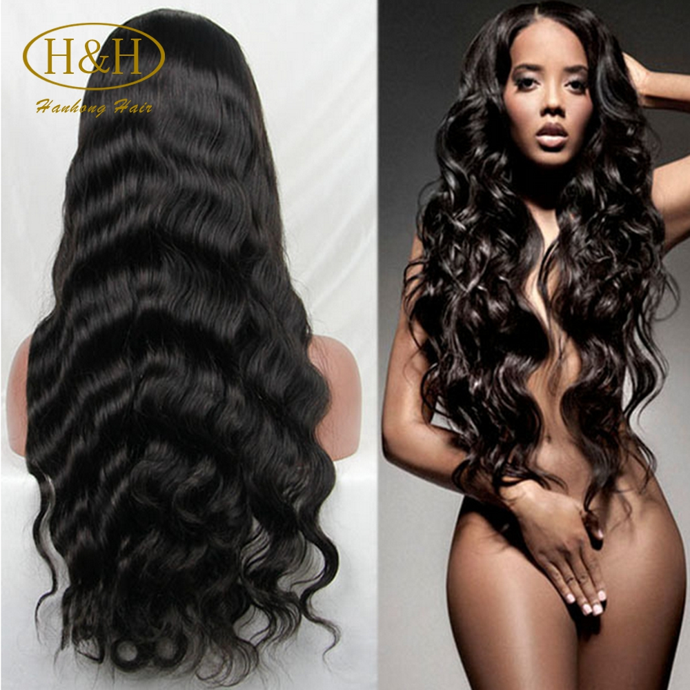 Overnight delivery 150% density body wave virgin Brazilian human lace front wig with baby hair