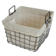 Metal wire basket for storage