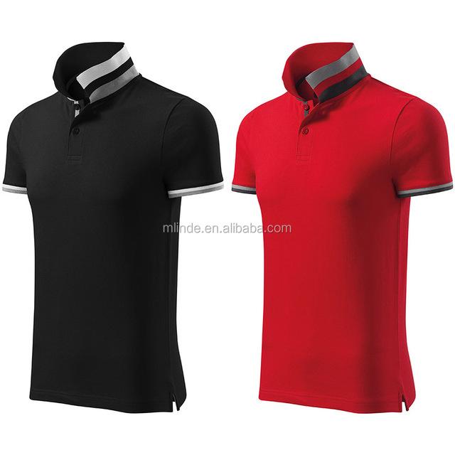 Men T Shirt 100 % Cotton Men's Slim-Fit Short Sleeve Uniforms Solid Pique Polo Shirt Create My Own T Shirt Design Polo