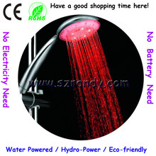 LD8008-A1 Rainfall Round Bathroom Red color led shower head range