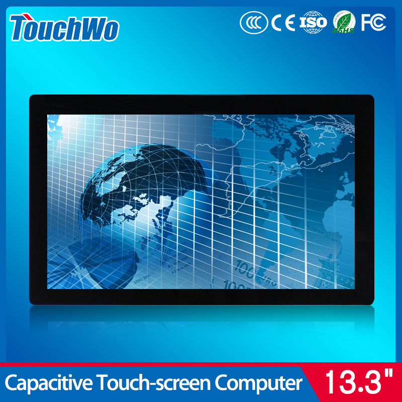 Intel Core CPU I3 I5 I7 Windows 10 touch screen monitor with 10 point touch ethernet wifi USB high definition