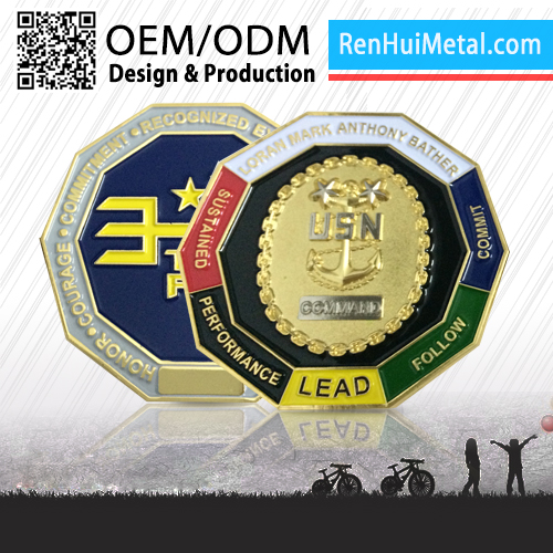 RENHUI METAL custom logo cheap custom token coins