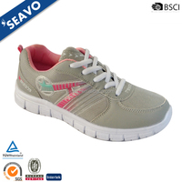 SEAVO 2016 national cheap branded woman durable breathable mesh upper grey sports shoes