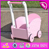 2015 Top quality Wooden baby Walker Trolley Toy, activity cart kids wood toy W16E015