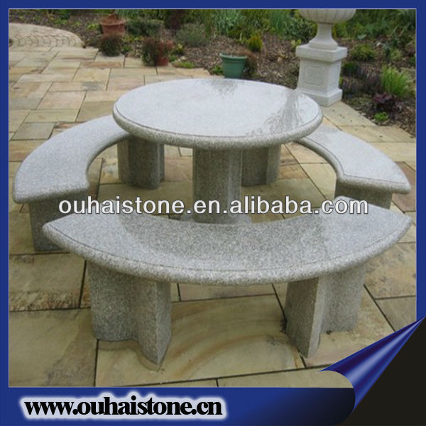 Landscaping Stone Garden Table Set Granite Bench And Table