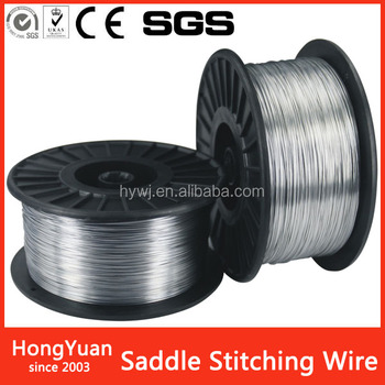 galvanized saddle stitching wire for book binding
