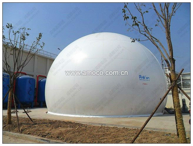 Popular Biogas Container--High strength polyester fabric membrane & Auto control system for customizing