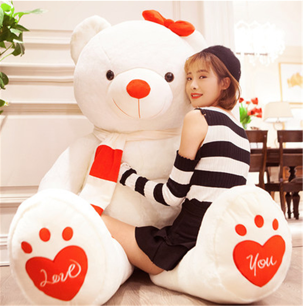Fancytrader Huge Giant Love Teddy Bears Plush Toys Gifts for Girls Soft Big Stuffed Bears Doll Christmas New Year Valentine's Day Gifts 5