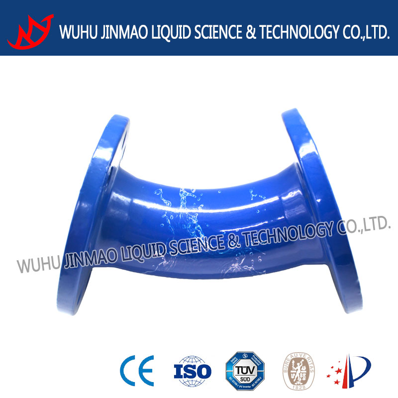 45 degree flange bend DN250 EN545 ductile iron pipe fitting