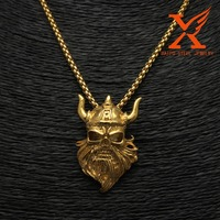 2016 Punk Culture Gold Skull Cremation Pendant for Men 316L Stainless Steel Material Ashes Keepsake