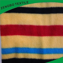New design latest craft stripe polar fleece fabric for wholesales