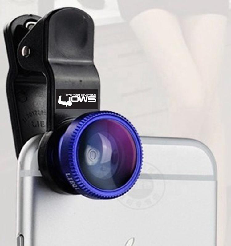 Amazon Hot Verkauf 0.67X Super Weitwinkelobjektiv Fischauge Objektiv 12x Miacro Handy Kameraobjektiv mit Clip - ANKUX Tech Co., Ltd