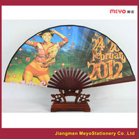 2015 Sales Advertising Gift Customized Bamboo Fabric Folding Hand Fan