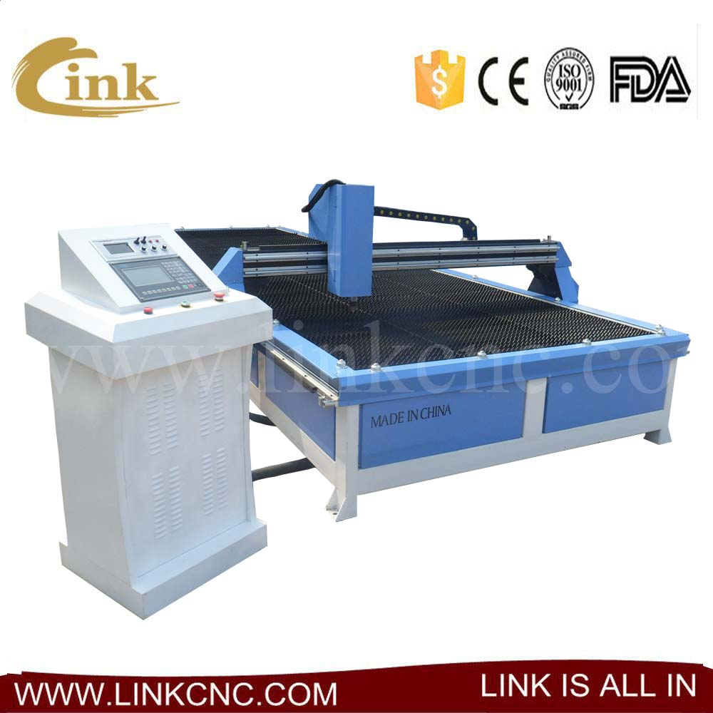 Portable cnc plasma cutting machine 2060/cnc cutter with huayuan supplier/sawtooth table