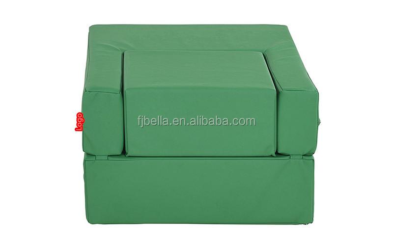 Softzone Flip-Flop Convertible Children's Chair, Multi-purpose convertible chair,Green
