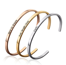316L Stainless Steel Engraved Womens Cuff Bracelet Provide Custom