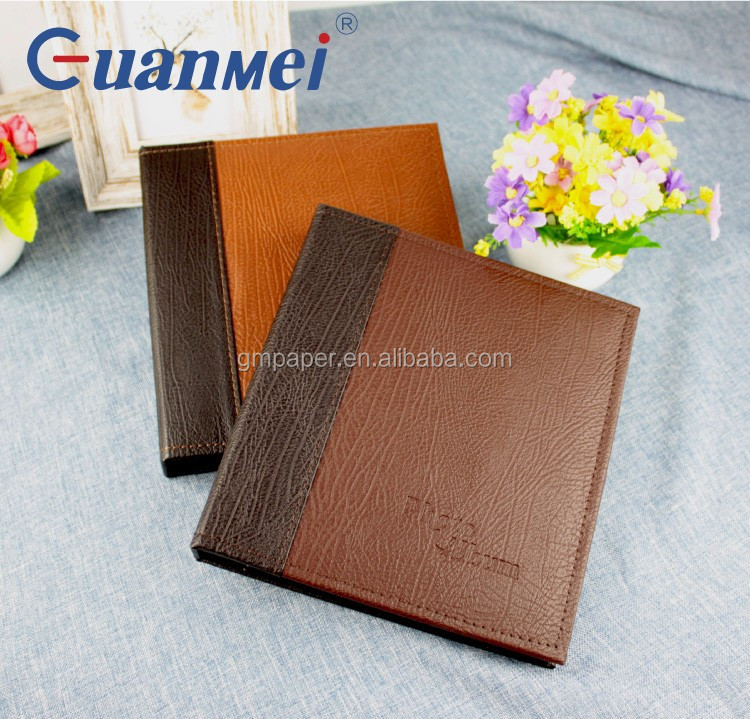 PU leather cover pp photo album 2up hold 160 4R photos black sheet album on sale