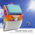 Solar power motion sensor led flood path light